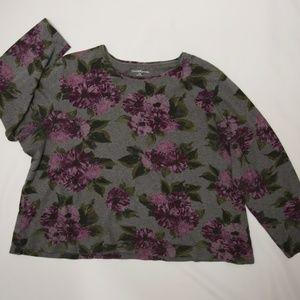 Croft & Barrow Womens Plus Size 2x Long Sleeve Top